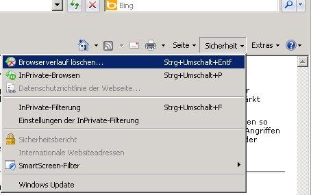 cache leeren internet explorer 8